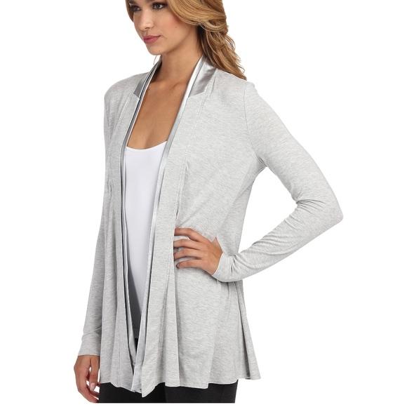 4631087694 Lysse Sweaters | Gray Canyon Wrap Vegan Leather Trim Cardigan | Poshmark
